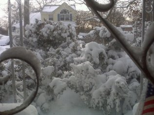 2009 blizzard. Front door view.